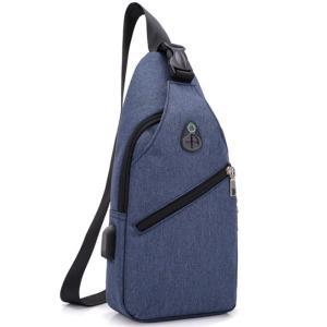 ボディバッグ メンズ レディース かばん USBポート搭載 ケーブル付 ミニバッグ 軽量 おでかけ おしゃれ|mensfashion|16