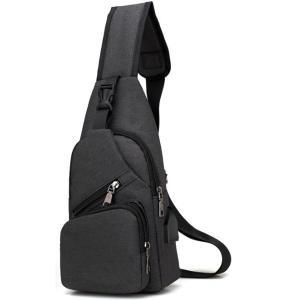 ボディバッグ メンズ レディース かばん USBポート搭載 ケーブル付 ミニバッグ 軽量 おでかけ おしゃれ|mensfashion|17