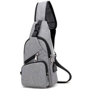 ボディバッグ メンズ レディース かばん USBポート搭載 ケーブル付 ミニバッグ 軽量 おでかけ おしゃれ|mensfashion|18
