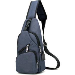 ボディバッグ メンズ レディース かばん USBポート搭載 ケーブル付 ミニバッグ 軽量 おでかけ おしゃれ|mensfashion|19