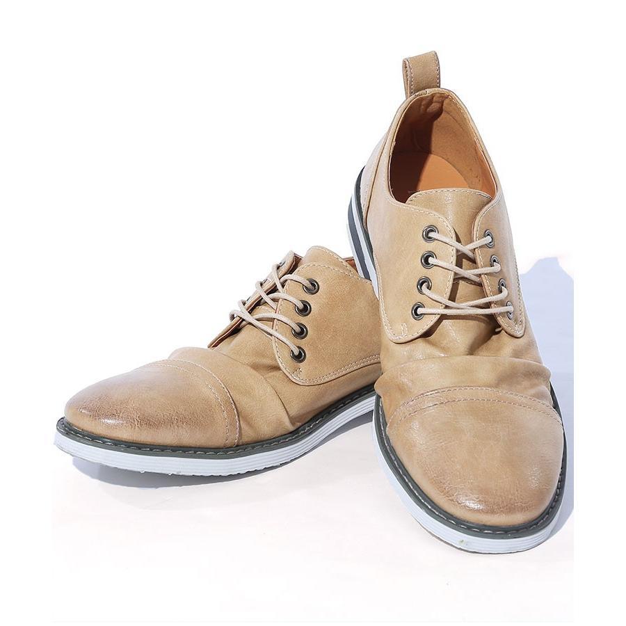 ブーツ メンズ 夏 スエード 靴 ローカット レースアップシューズ プレーントゥ キレイめ おしゃれ 20代 30代 40代 menz-style 23