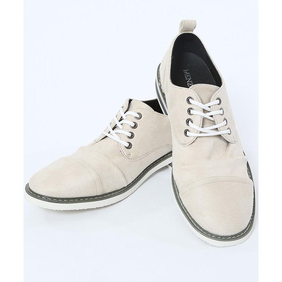 ブーツ メンズ 夏 スエード 靴 ローカット レースアップシューズ プレーントゥ キレイめ おしゃれ 20代 30代 40代 menz-style 22