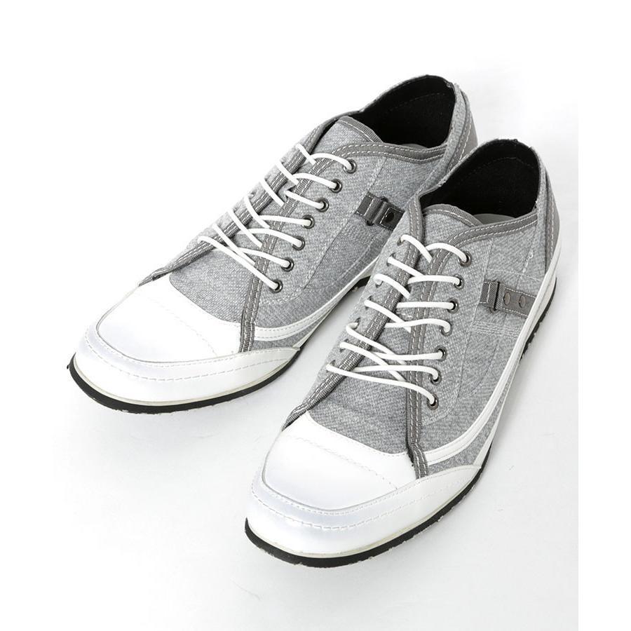 スニーカー メンズ 靴 シューズ カジュアル ローカット おしゃれ 30代 40代 50代 デニム スウェット|menz-style|19