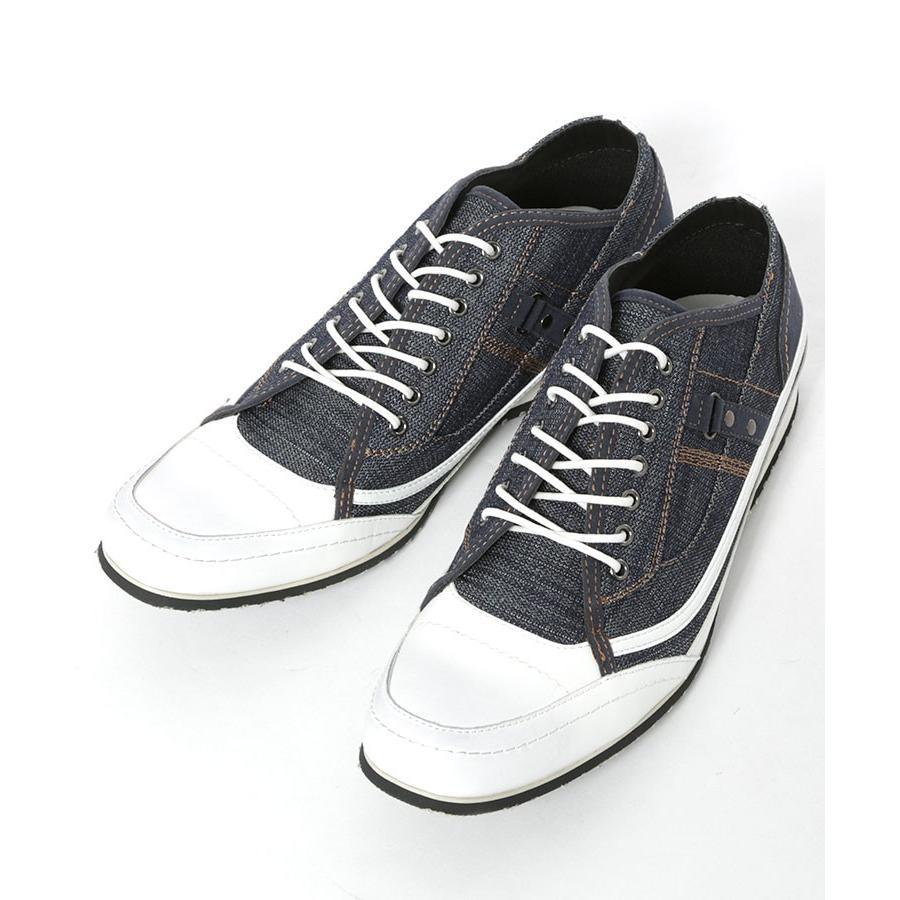 スニーカー メンズ 靴 シューズ カジュアル ローカット おしゃれ 30代 40代 50代 デニム スウェット|menz-style|20