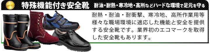 特殊機能付き安全靴