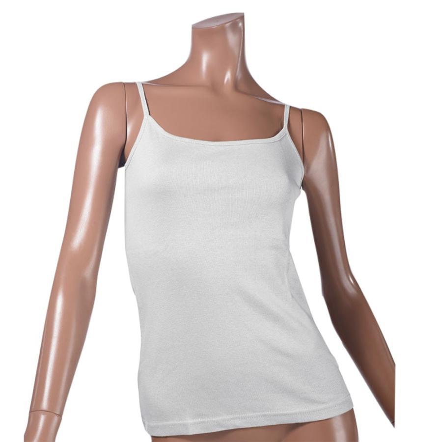タンクトップ キャミソール オーガニックコットン 100 敏感肌 肌に優しい ストレスフリー カットソー ラウンドネック ノースリーブ 有機栽培 敏感|mignonlindo|18