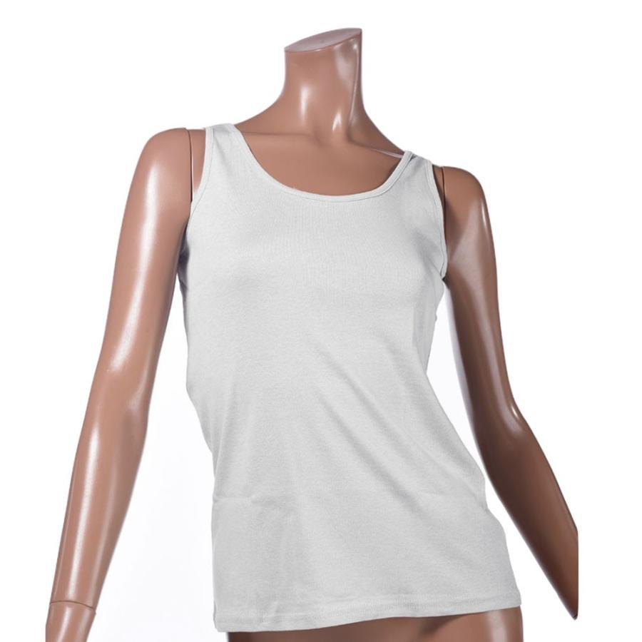 タンクトップ キャミソール オーガニックコットン 100 敏感肌 肌に優しい ストレスフリー カットソー ラウンドネック ノースリーブ 有機栽培 敏感|mignonlindo|24