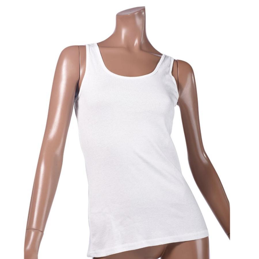 タンクトップ キャミソール オーガニックコットン 100 敏感肌 肌に優しい ストレスフリー カットソー ラウンドネック ノースリーブ 有機栽培 敏感|mignonlindo|23