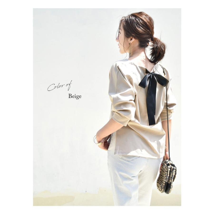 SALE 授乳服 マタニティ エミリーバックリボンパフィ5分袖カットソー 1点までメール便可 ジッパータイプの授乳口 授乳ケープみたいに使える Tシャツ レディース|milktea-mm|23