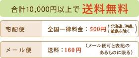 合計10,000円以上で送料無料 宅配便全国一律500円 メール便160円(メール便可と表記のあるものに限る)