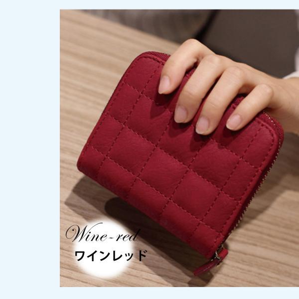 ミニ財布 小さい 二つ折り ラウンドファスナー レディース コンパクト みにさいふ miriimerii 12