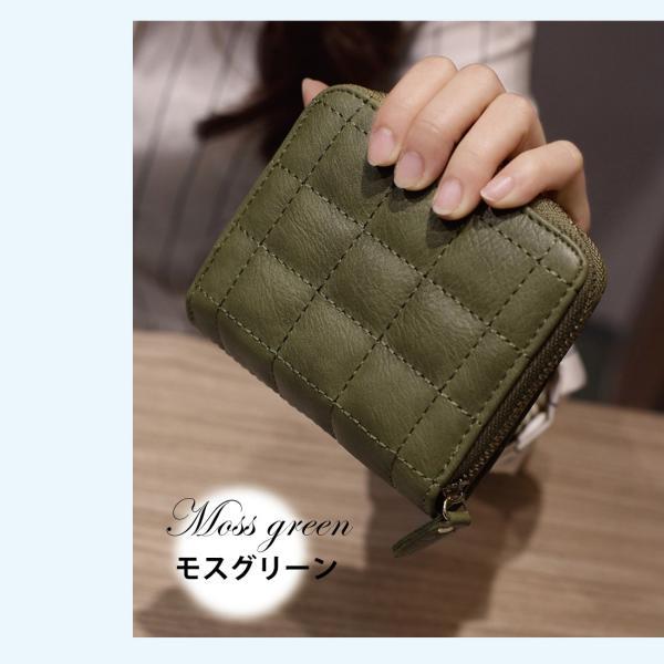 ミニ財布 小さい 二つ折り ラウンドファスナー レディース コンパクト みにさいふ miriimerii 13