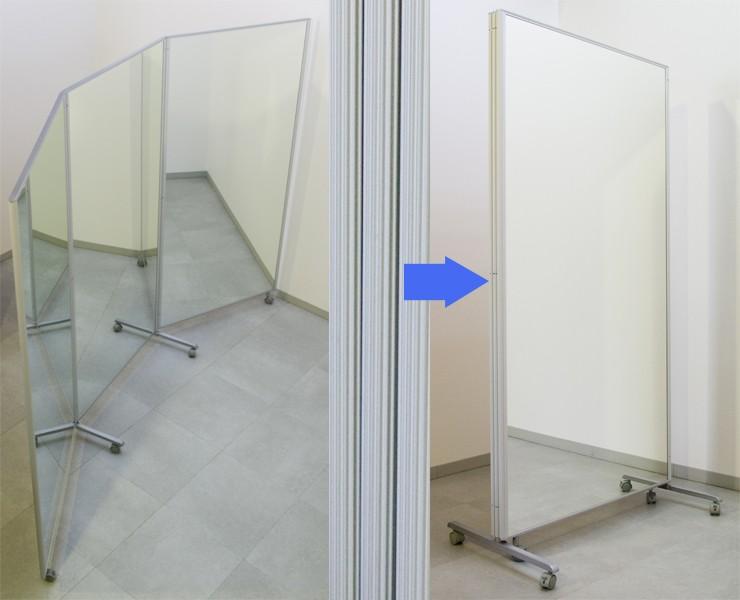 大型三面鏡