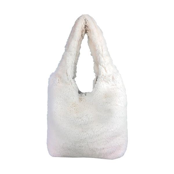 ファーバッグ トート レディース トートバッグ ミニ ボルドー 黒 白 無地 ミニバッグ フェイクファー ふわふわ もこもこ 可愛い 巾着バッグ 宅配便送料無料 buy|missbeki|11