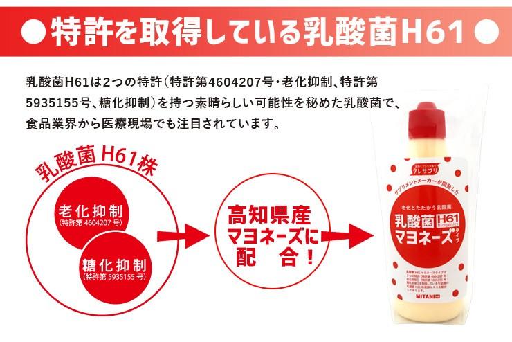 特許を取得している乳酸菌H61