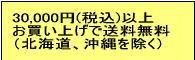 20,000円(税込)以上お買い上げで送料無料!!
