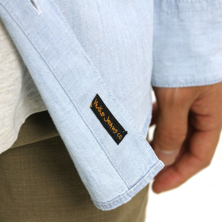 ヌーディージーンズ Nudie Jeans 正規販売店 メンズ 長袖シャツ  STANLEY SHIRT DENIM B26 140471
