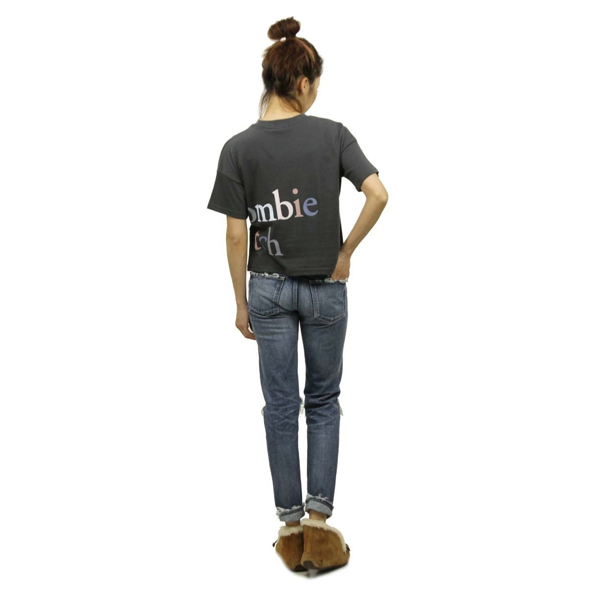 アバクロ Abercrombie&Fitch 正規品 レディース クルーネック 半袖Tシャツ Exploded Logo Tee 157-576-0124-901