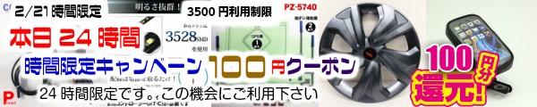 本日24時間有効100円クーポン