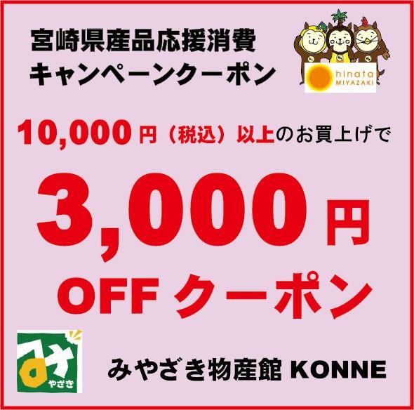 数量限定!宮崎県産品応援消費キャンペーンクーポン