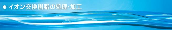 イオン交換樹脂の処理・加工