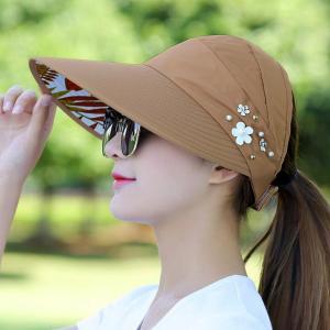 折りたたみ 帽子 レディース 日よけ 帽子 UVカット帽子 ひも付き サンバイザー サマーハット つば広 メッシュ 裏地あり|水着ストア
