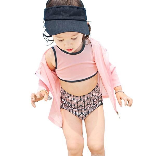 子供 水着 キッズ 女の子 ラッシュガード セパレート ビキニ スイムキャップ ハイウエスト ショートパンツ 4点セット 100cm 110cm 120cm 130cm|mizuki-store|17