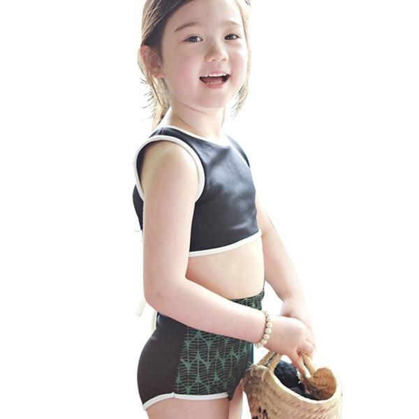 子供 水着 キッズ 女の子 ラッシュガード セパレート ビキニ スイムキャップ ハイウエスト ショートパンツ 4点セット 100cm 110cm 120cm 130cm|mizuki-store|18