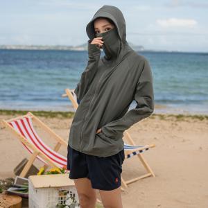 ラッシュガード レディース 体型カバー 長袖 パーカー 大きいサイズ トップス 春 夏 秋 水陸両用 シンプル 無地 薄手|水着ストア