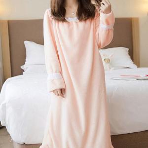 ルームウェア ワンピース もこもこ パジャマ レディース かわいい 長袖 やわらかい ルームワンピース 冬|水着ストア