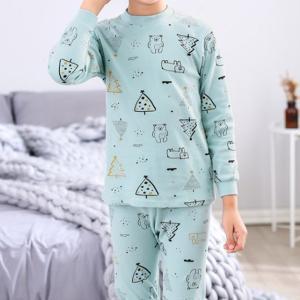 キッズ ルームウェア 長袖 春 秋 冬 パジャマ セットアップ 男の子 女の子 ユニセックス 上下セット トップス パンツ|水着ストア
