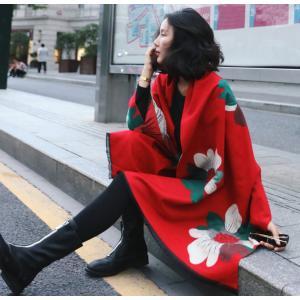 ストール 大判 マフラー レディース 秋冬 ロング ビッグサイズ 大きい 花柄 かわいい おしゃれ 上品 小物 ひざ掛け ショール|水着ストア