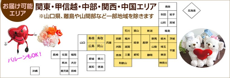 お届け可能エリアは、本州、九州、四国