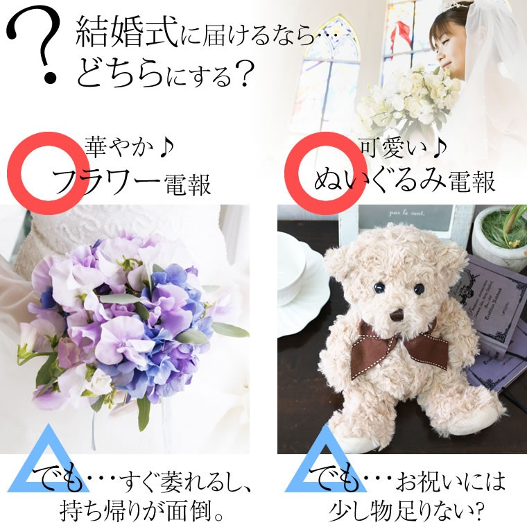 結婚式に贈るなら、どっちにする?