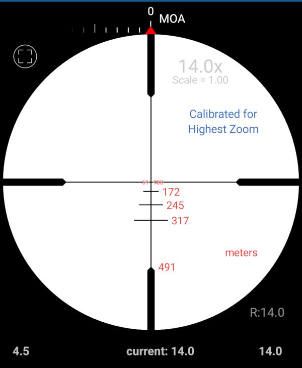 minox zv3 4 5 14x44 サイドフォーカス ライフルスコープ bdc 400