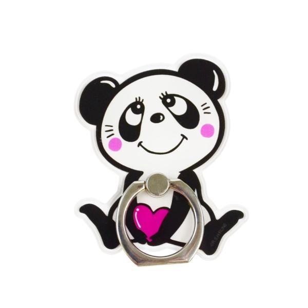 RUNE スマホリング 「パンダ/ネコ」 ルネ スマートフォン リング ring iphone xperia galaxy ホールドリング バンカーリング 動物 ネコ パンダ|mobile-f|07