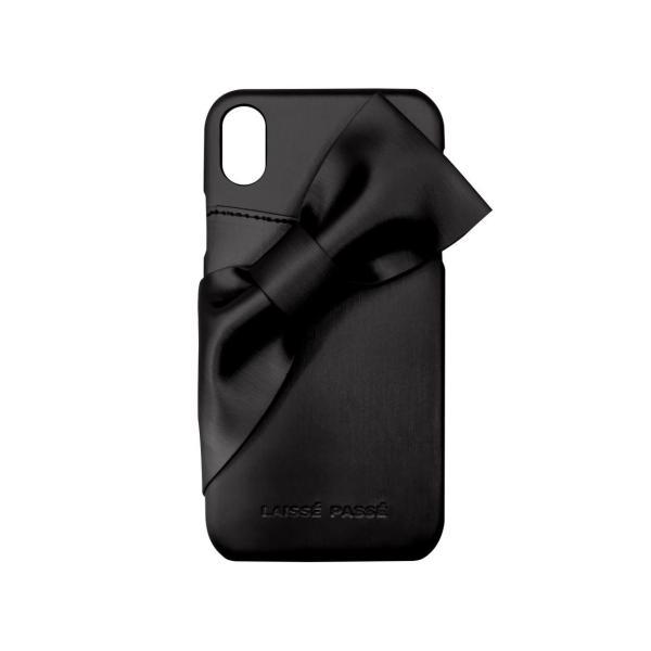 iPhoneXR LAISSE PASSE 「ドレープリボン」 背面ケース レッセパッセ iphone アイフォン ケース xr アイフォンxr|mobile-f|11