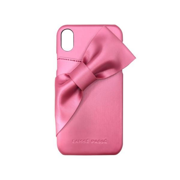 iPhoneXR LAISSE PASSE 「ドレープリボン」 背面ケース レッセパッセ iphone アイフォン ケース xr アイフォンxr|mobile-f|12