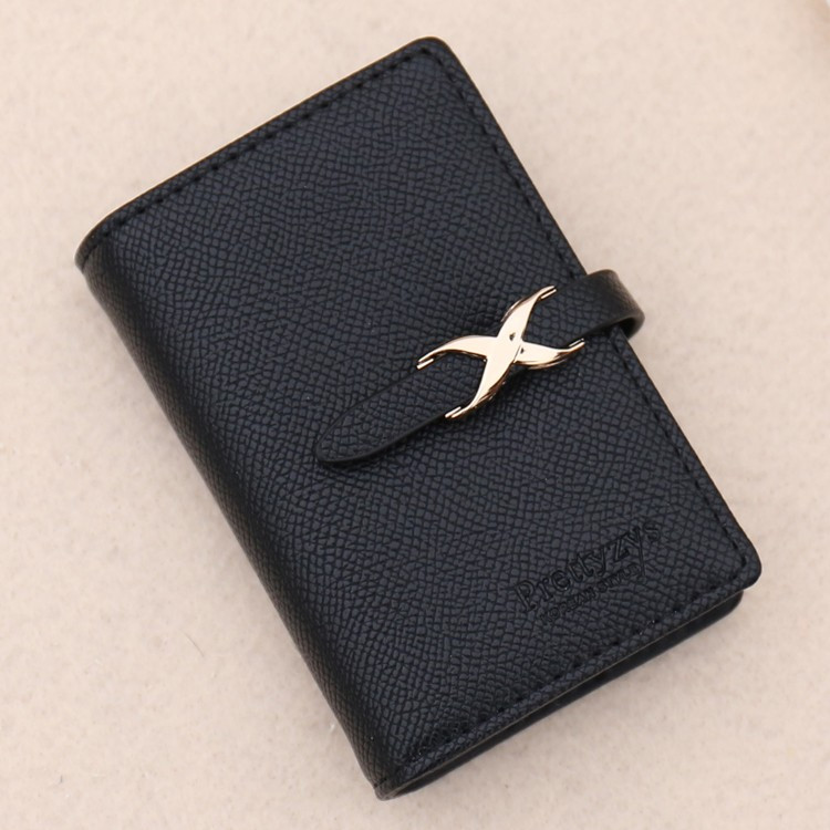 カード入れ ケース 大容量 レディース おしゃれ 二つ折り 40枚収納可能 診察券 ポイント IC 電子マネー クレジット カードホルダー 整理 黒|mobilebatteryampere|22