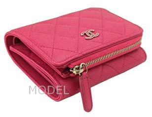 シャネル 財布 ピンク 新作 キャビアスキン A80480 商品コード CHANEL-219 商品画像 2