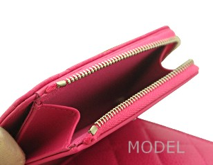 シャネル 財布 ピンク 新作 キャビアスキン A80480 商品コード CHANEL-219 商品画像 5