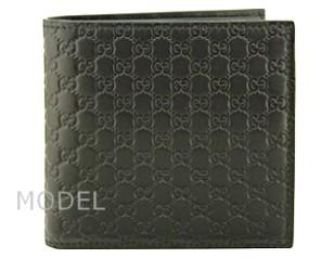 グッチ GUCCI 財布 メンズ 二つ折り財布 グッチシマ 黒/ブラック アウトレット 150413 商品コード GUCCI-OUTLET-207 商品画像 1