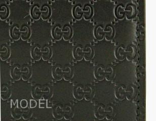 グッチ GUCCI 財布 メンズ 二つ折り財布 グッチシマ 黒/ブラック アウトレット 150413 商品コード GUCCI-OUTLET-207 商品画像 2