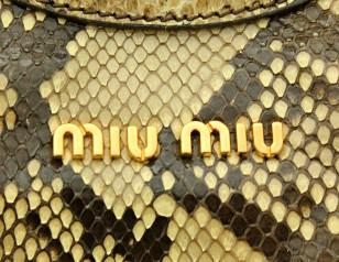 ミュウミュウ バッグ アウトレット ショルダーバッグ パイソン トートバッグ RR1487  商品コード miumiu-outlet-036 商品画像 4