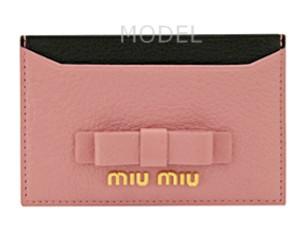 ミュウミュウ 名刺入れ カードケース 2015 新作 ピンク リボン バイカラー 5M0208 商品コード miumiu182 商品画像 1