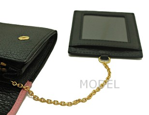 ミュウミュウ 財布 2015 新作 リボン 長財布 バイカラー ピンク×黒 5M1109 商品コード miumiu186 商品画像 5