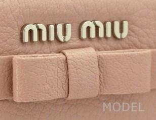 ミュウミュウ 財布 2015 新作 リボン レディース 長財布 ピンク 5M0506 商品コード miumiu185 商品画像 4