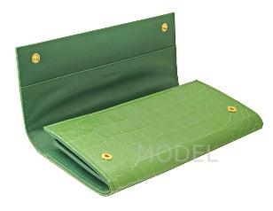 ミュウミュウ 財布 アウトレット クロコ型押し 長財布 グリーン 5M1109 商品コード miumiu-outlet-026 商品画像 2