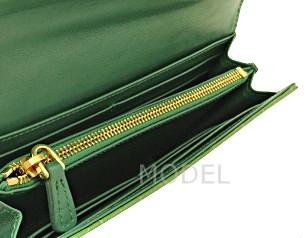 ミュウミュウ 財布 アウトレット クロコ型押し 長財布 グリーン 5M1109 商品コード miumiu-outlet-026 商品画像 3