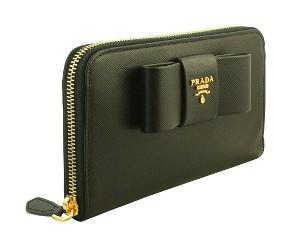 プラダ 財布 レディース リボン 長財布 黒/ブラック サフィアーノ 1M0506 アウトレット 商品コード PRADA-OUTLET-172 商品画像 2